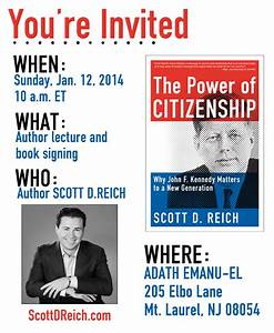 news events scott d reich With book signing poster template