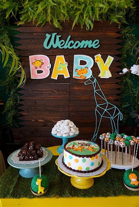baby shower safari decorations kara s ideas safari animal baby shower kara s