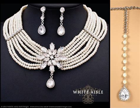 Wedding Jewelry Set, Vintage Inspired Pearl Bridal Jewelry Set, Multi Strand Pearl Necklace Christian Jewelry Indianapolis South African Designers Wholesale In Bulk From Ghana Beads Jewellery Set Below 300 Homeshop18 Suppliers
