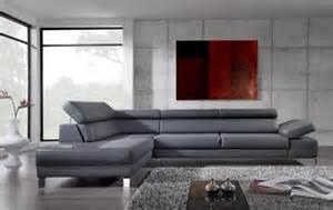 canape d angle cuir gris le canapé d 39 angle en cuir 60 idées d 39 aménagement
