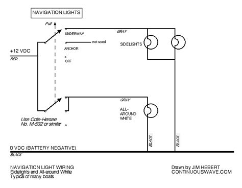 Wiring Boat Navigation Light Diagram by Continuouswave Whaler Reference Navigation Light Switch