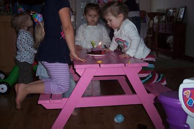 white preschool picnic table diy projects 447 | picnic table 1
