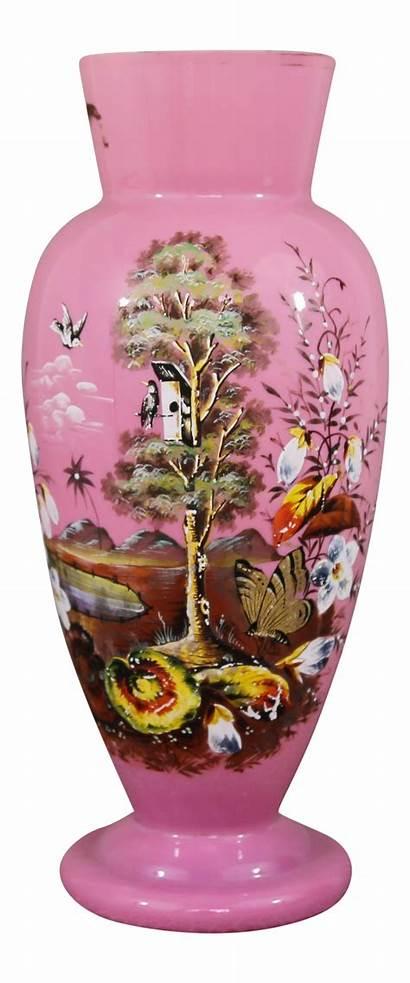 Glass Antique Vase Milk Bristol Cranberry Chairish