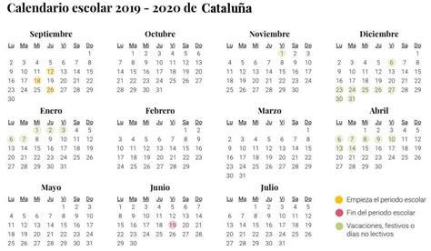 calendario escolar de cataluna el curso