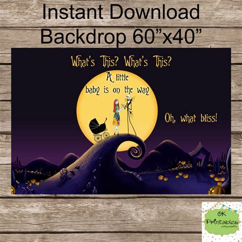 Nightmare Before Photo Backdrop by Nightmare Before Baby Shower By Okprintables On