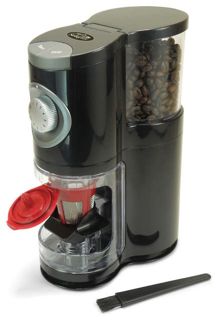 Coffee experts say you should grind your own coffee beans for maximum taste. SoloGrind and K3 Chrome Automatic Single Server Coffee Burr Grinder - Contemporary - Coffee ...