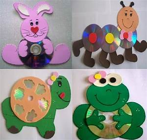 Recycled CD crafts ideas for kids - Art & Craft Ideas