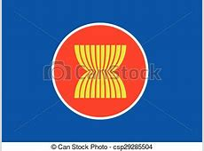 Asean flag icon, southeast asia flag vector clipart