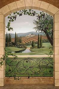 158 best tuscany images on pinterest mural painting for Decor mural trompe l oeil