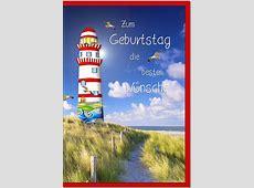 Geburtstagskarten Grußkarten Geburtstag Leuchtturm