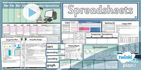 computing excel spreadsheets year  unit pack