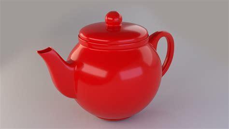 Colorful Teapot Set 3D Model OBJ 3DS FBX DAE   CGTrader.com