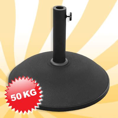 sonnenschirmständer 50 kg sonnenschirmst 228 nder beton fu 223 schwarz rund 50 kg neu