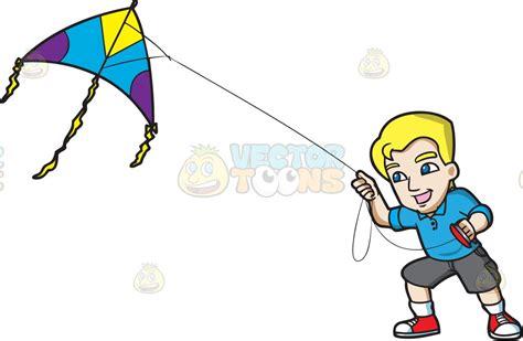 A Happy Man Controlling A Kite