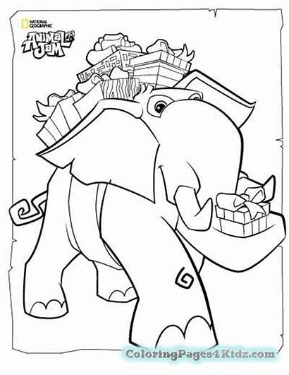 Jam Animal Coloring Pages Elephant Printable Popular