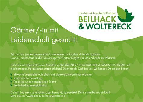 Garten Und Landschaftsbau Aufgaben by Beilhack Woltereck Gmbh 220 Beruns