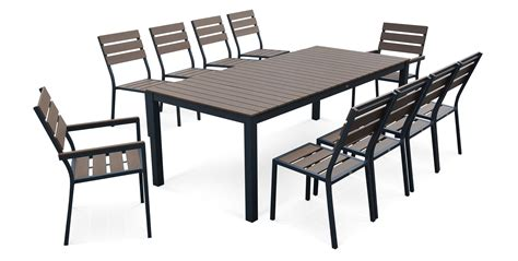 chaises salon de jardin salon de jardin aluminium et verre images gallery