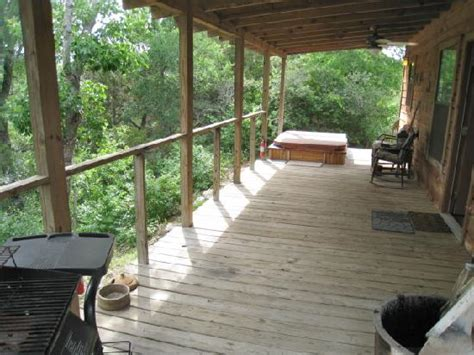 Paluxy River Bed Cabins by Porch Looking Out To The River Picture Of Paluxy River