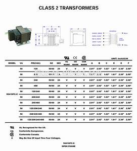Ul  Cul Approved 240v 24v Ac Transformer Control