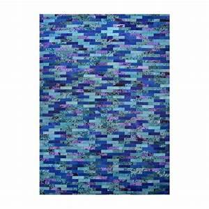 sky tapis 100 peaux cuir bleu With tapis peau de vache avec produit detachant tissu canape