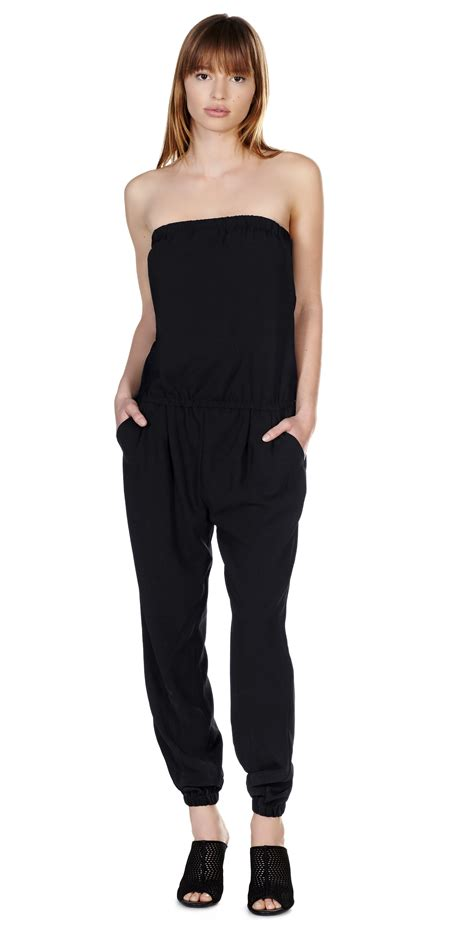 joie jumpsuit joie dasia jumpsuit in black lyst