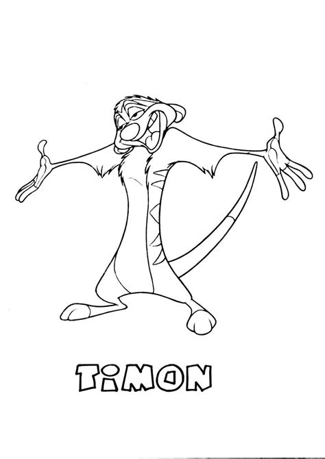 Kleurplaat Pumba by Timon The King Coloring Page