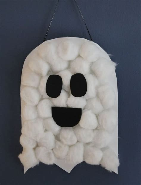13 haunted crafts for 638 | Cotton ball ghost