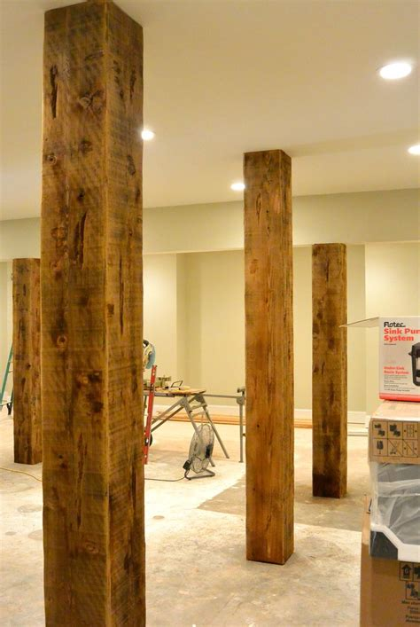 custom beme wraps  basement steel support columns
