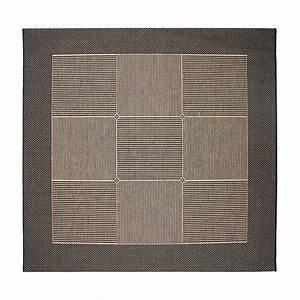 tapis de salon carre noir marron 200x200cm With tapis carrés multicolores