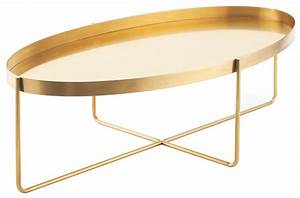 gaultier 54quot gold metal coffee table from nuevo coleman With gold brass coffee table
