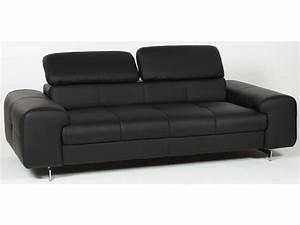 canape fixe 3 places irina coloris noir conforama pickture With tapis design avec dimension canapé 3 places conforama