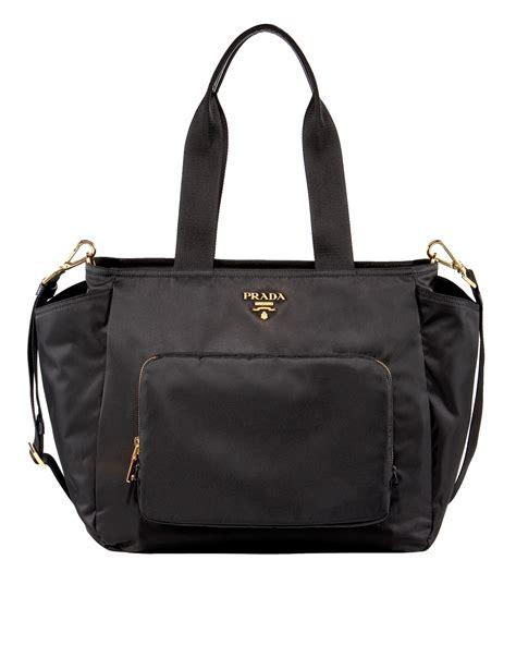 designer baby bag prada baby bag in black lyst