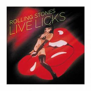 The Rolling Stones Live Licks Square Button