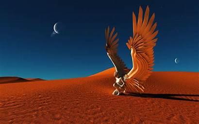 Fallen Angel Angels Desert Fantasy Wallpapers Mystery