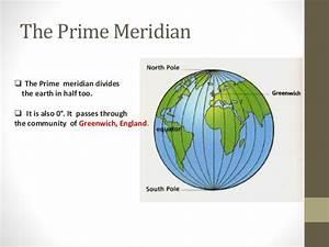 Prime Meridian Equator  Latitude And Longitude