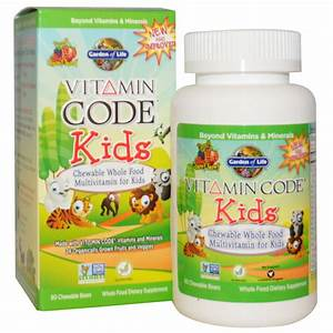 Garden of Life, Vitamin Code, Kids, Chewable Whole Food ...