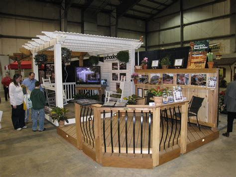 home show display features low maintenance decking