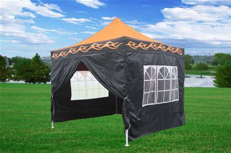 orange flame pop  tent canopy