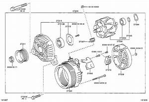 2001 Toyota Rav4 Clip  Alternator Cord  Engine