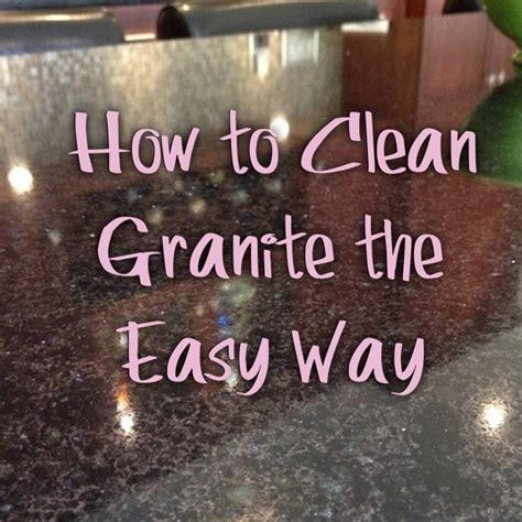 cleaning your granite countertops quickly and easily