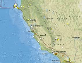 Recent California Earthquakes Map