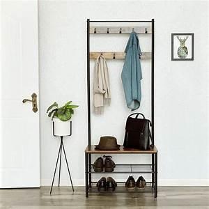 Porte Manteau Entrée : songmics porte manteau au style vintage vestiaire avec ~ Melissatoandfro.com Idées de Décoration