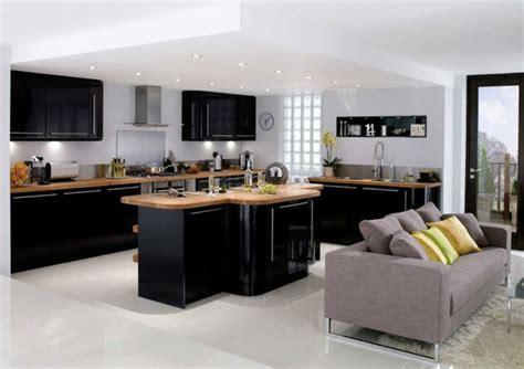 mini cuisine pour studio cuisine et bois avec ilot revetement en bois ideeco