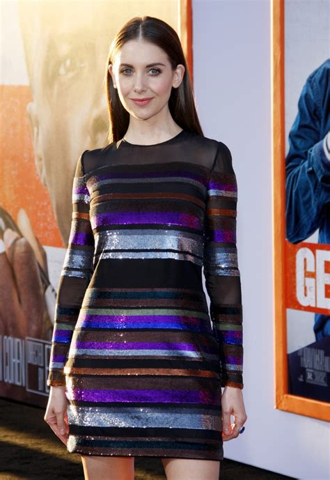 Alison Brie Wears Emilio Pucci Sequin Dress at 'Get Hard ...