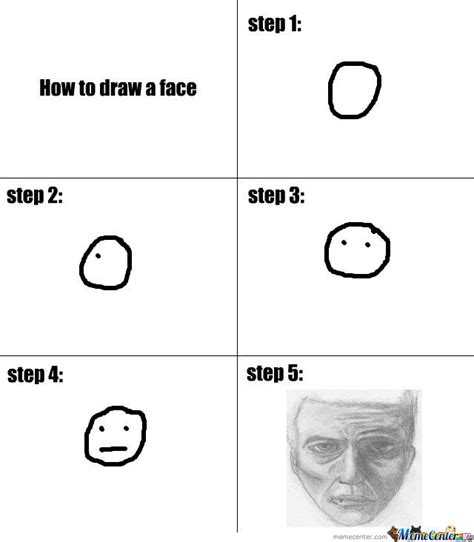 How To Draw Meme - how to draw a face tutorial by opixelkingpin meme center