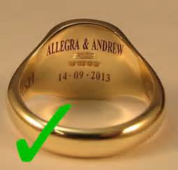 when engraving wedding rings class rings make it quot able quot