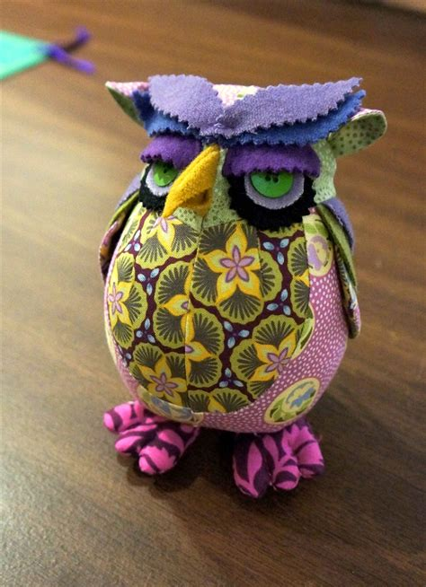 edgar owl poe pincushion pattern  heather bailey