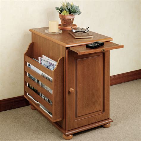 table and storage ayden magazine storage table