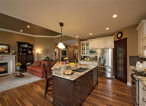 kitchen and family room design images about kitchen den combo on family rooms 7673