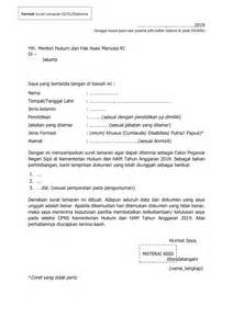 Contoh Lamaran Cpns Kemdikbud by Contoh Dan Cara Mudah Buat Surat Lamaran Dan Pernyataan